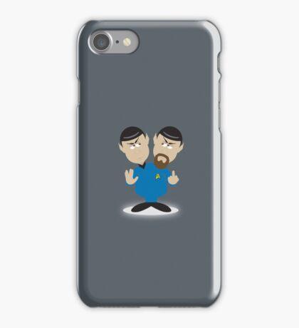 Spock v Evil Spock iPhone Case/Skin