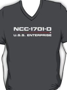 ST Registry Series - Enterprise-D White Logo T-Shirt