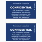 Confidential Stickers by sundayedition