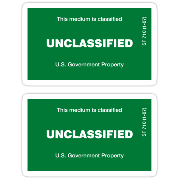 Unclassified Sticker by sundayedition