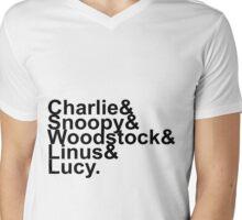 Charlie Brown  Mens V-Neck T-Shirt