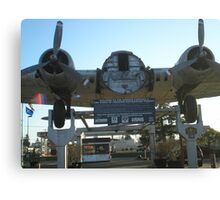 The Bomber Canvas Print
