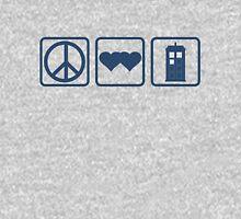 Peace DoubleHeart Tardis Unisex T-Shirt