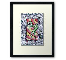 Green Alieng Framed Print