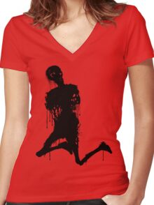 Decaying Zombie 3 Women's Fitted V-Neck T-Shirt