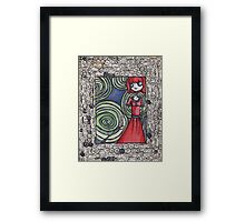 A Girl and Her Invisible Dog Framed Print