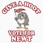 Give A Hoot Vote For Newt by liberteed