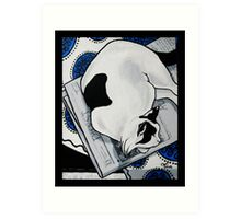 Patch, Sweet fat cat, napping in the sun Art Print