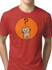 Confused Cat Tri-blend T-Shirt