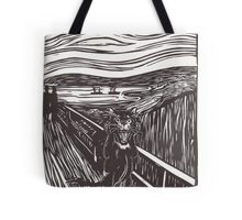 Devil Scream- LinoCut Tote Bag