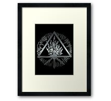 ANCIENT FIRE SYMBOL - scratched steel Framed Print