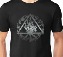 ANCIENT FIRE SYMBOL - scratched steel Unisex T-Shirt