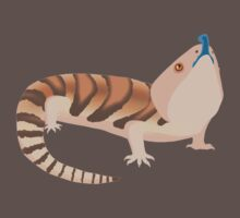 Simple Blue Tongue Skink One Piece - Short Sleeve