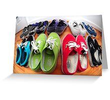 Vans Shoes Greeting Card