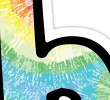 """Tie Dye """"B"""" Sticker"""
