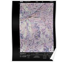 USGS Topo Map Washington State WA Lester 20110509 TM Inverted Poster