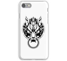 Cloud Strife's Wolf Emblem (Black) iPhone Case/Skin