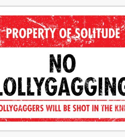 Solitude Municipal Ordinance Sticker