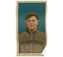 Benjamin K Edwards Collection Quillin Minneapolis Team baseball card portrait Poster