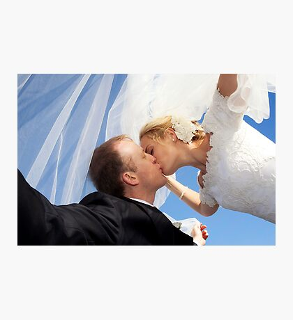Kiss under veil Photographic Print