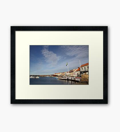Lysekil harbour, West Sweden Framed Print