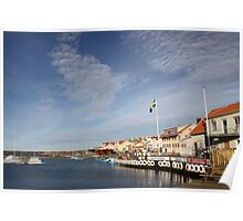 Lysekil harbour, West Sweden Poster