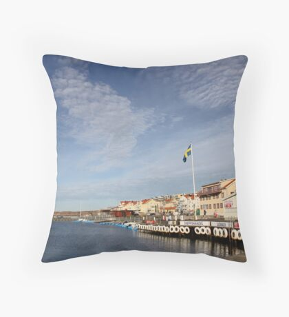Lysekil harbour, West Sweden Throw Pillow