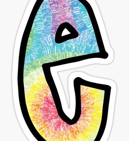 """Tie Dye """"E"""" Sticker"""