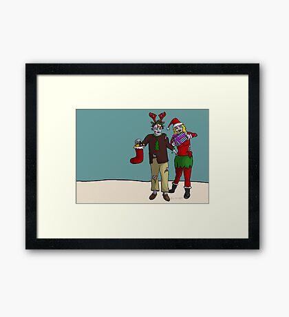 Xmas Zombies Framed Print