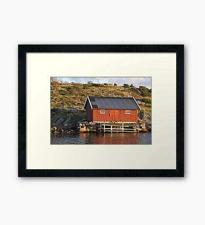 South Koster boathouse Framed Print