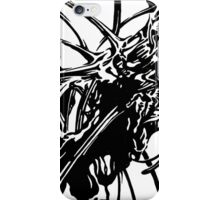 Sunflower stalk 1—Black and White  iPhone Case/Skin