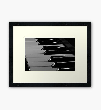 Old Piano Keyboard Framed Print