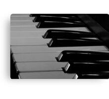 Old Piano Keyboard Canvas Print