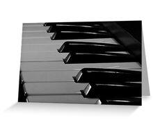 Old Piano Keyboard Greeting Card