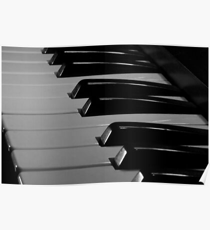 Old Piano Keyboard Poster