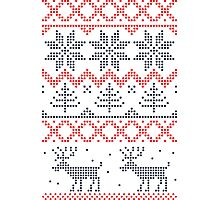 Nordic Xmas pattern Photographic Print