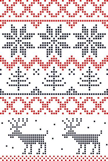 Nordic Xmas pattern by Anastasiia Kucherenko