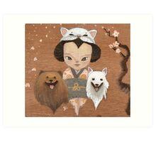 cat & dogs Art Print