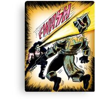 Kiss versus the Cylons Canvas Print
