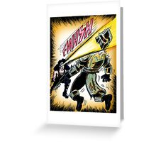 Kiss versus the Cylons Greeting Card