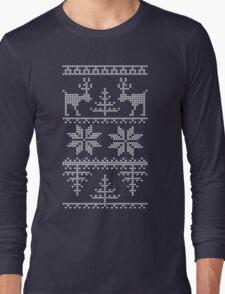 nordic knit pattern Long Sleeve T-Shirt
