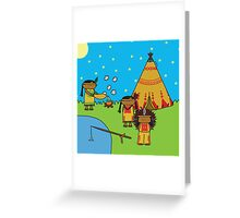 Indians - Print, Card & Poster Greeting Card