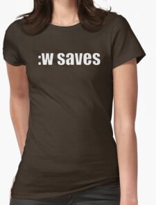 Vim :w saves Womens Fitted T-Shirt