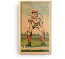 Benjamin K Edwards Collection Jerry Denny Indianapolis Hoosiers baseball card portrait Metal Print