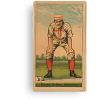 Benjamin K Edwards Collection Jerry Denny Indianapolis Hoosiers baseball card portrait Canvas Print