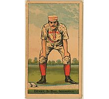 Benjamin K Edwards Collection Jerry Denny Indianapolis Hoosiers baseball card portrait Photographic Print