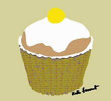 Yellow cupcake  by kreativekate