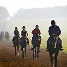Early morning at the gallops by Pat Shawyer