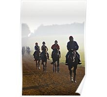 Early morning at the gallops Poster