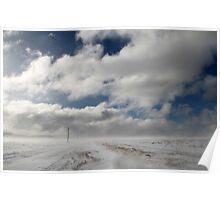 Winter highway Poster
